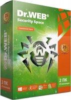 Антивирус Dr.Web Security Space КЗ 2 ПК/25 мес