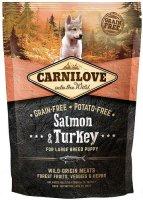 Сухой корм Carnilove беззерновой для щенков крупных пород, Лосось и индейка, 1,5 кг (150823)