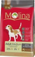 Сухой корм Molina для взрослых собак средних пород, 15 кг (650975)