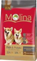 Сухой корм Molina для собак всех пород, рыба и картофель, 15 кг (651040)