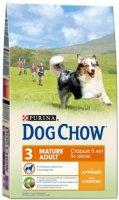 Сухой корм Dog Chow для взрослых собак старше 5 лет, с курицей, 2,5 кг
