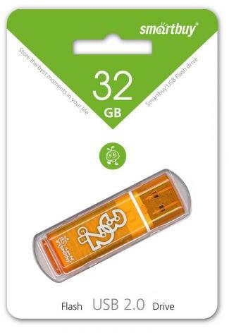 USB флешка Smartbuy Glossy Series 32GB, Orange