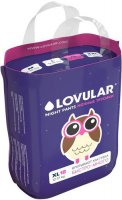 Трусики-подгузники LOVULAR ночные, XL, 12-17 кг., 18 шт (429054)