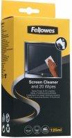 Чистящий набор для экранов Fellowes спрей + абсорбирующие салфетки, 20 шт (FS-99701)