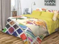 Комплект постельного белья Волшебная Ночь Ранфорс, Paint, евро (706803)
