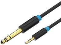 разветвитель belsis sp3059 jack 3 5 3 pin вилка 2 jack 3 5 3 pin розетка длина 0 15 метра черный Кабель Vention аудио Jack 6.35 mm M/3.5 M, 3 м (BABBI)
