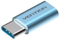Адаптер-переходник Vention USB Type C M/USB 2.0 micro B 5pin F, голубой (VAS-S10-S)