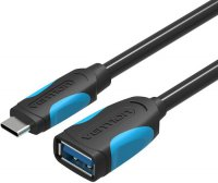 Адаптер-переходник Vention Type C M/ OTG USB 3.0 AF, гибкий , 0,1 м (VAS-A51-B010)