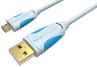 Кабель Vention USB 2.0 AM/micro B 5pin, 0,25 м (VAS-A04-S025) jinga jincabmcusb12bl black кабель usb micro usb 1 2 м
