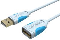 Кабель-удлинитель Vention USB 2.0 AM/AF, 3 м, серый (VAS-A05-S300) usb 3 0 am to af extension cable 90cm length