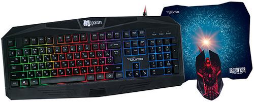 Купить Игровой набор Qumo, клавиатура + мышь + коврик Respawn K28/M28