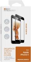 Защитное стекло с рамкой InterStep 3D для iPhone X, черный (IS-TG-IPHONX3DB-000B202)