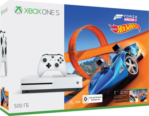 Купить Игровая приставка Microsoft, Xbox One S 500Gb + Forza Horizon 3 + DLC...