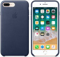 Чехол Apple для iPhone 8 Plus/7 Plus Leather Case Midnight Blue (MQHL2ZM/A)