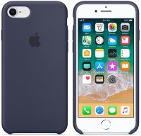 Чехол Apple для iPhone 8/7 Silicone Case Midnight Blue (MQGM2ZM/A)