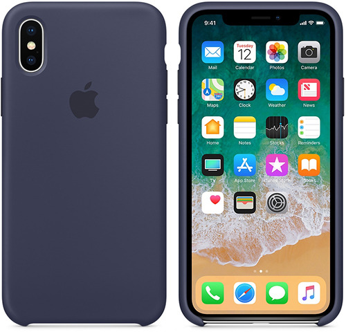 Чехол для смартфона Чехол Apple Для Iphone X Silicone Case Midnight Blue (Mqt32Zm/A) Москва