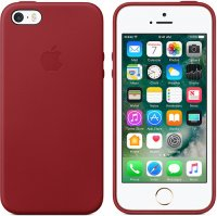 Чехол Apple для iPhone 5/5s/SE Leather Case Red(MR622ZM/A)