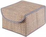 Коробка для хранения с крышкой Casy Home 21х26х15 см, коричневый/синий (BO-011)