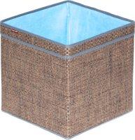 Корзина для хранения с ручками Casy Home 30х30х30 см, коричневый/синий (BА-041)