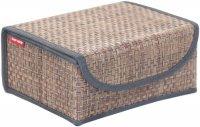 Коробка для хранения с крышкой Casy Home 23х17х10 см, коричневый/синий (BO-051)