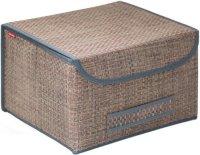 Коробка для хранения с крышкой Casy Home 35х30х22 см, коричневый (BO-041)