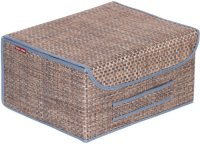 Коробка для хранения с крышкой Casy Home 35х28х18 см, коричневый/синий (BO-021)
