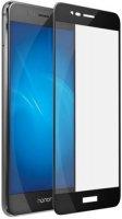 Защитное стекло с рамкой 2.5D InterStep для Huawei Honor 8 Lite, черная рамка (IS-TG-HON8LTFSB-000B202)