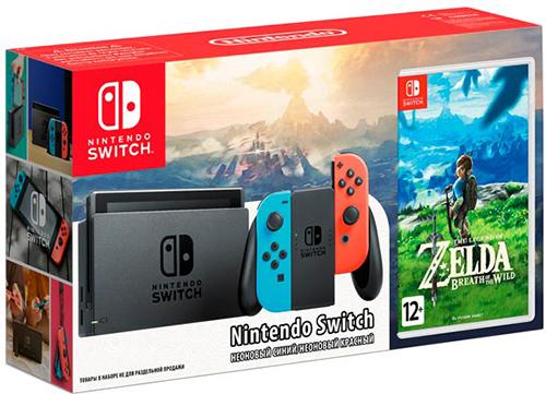 Купить Игровая приставка Nintendo, Switch красный/синий + The Legend of Zelda:...