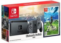 Игровая приставка Nintendo Switch серый + The Legend of Zelda: Breath of the Wild