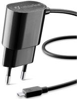 Сетевое зарядное устройство Cellular Line Micro USB, 1А, черный (CLBACHMICROUSBK) фото