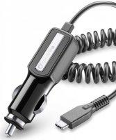 Автомобильное зарядное устройство Cellular Line Type C, 2А, черный (CBRTYPECK)