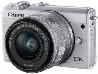 09a35d060cfa Системный фотоаппарат EOS M100 Kit EF-M 15-45 IS STM White - купить  Цифровой фотоаппарат со сменной оптикой Canon EOS M100 Kit EF-M 15-45 IS  STM White по ...