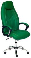 Кресло Tetchair Boss Люкс, хром зеленый фото