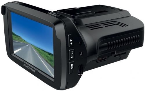 Купить Автомобильный видеорегистратор с радар-детектором Digma, DCD-300 Combo GPS