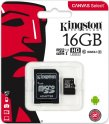 Карта памяти Kingston microSDHC 16GB Class 10 UHS-I U1 + SD адаптер (SDCS/16GB)