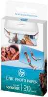 Фотобумага HP Zink Sticky-Backed Photo Paper, 5x7.6 см, 20 листов