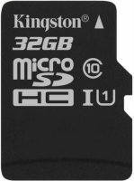 Карта памяти Kingston microSDHC 32GB Class 10 UHS-I U1 (SDCS/32GBSP)