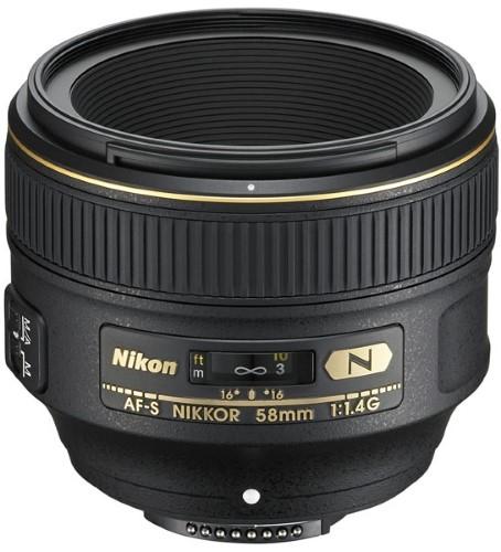 Объектив Nikon 58mm f/1.4G AF-S Nikkor (JAA136DA)