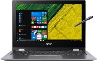 "Ноутбук Acer Spin 1 SP111-32N-C1AJ Steel Gray (Intel Celeron N3350 1100Mhz/11.6""/1920x1080/4GB/64GB/Intel HD Graphics 500/DVD нет/Wi-Fi/Bluetooth/Win10 Home)"