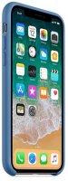 Чехол Apple Silicone Case для iPhone X Denim Blue (MRG22ZM/A)