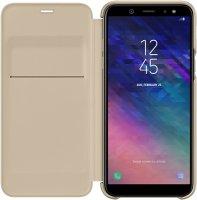 Чехол Samsung Wallet Cover для Samsung A6 (2018) Gold (EF-WA600CFEGRU)
