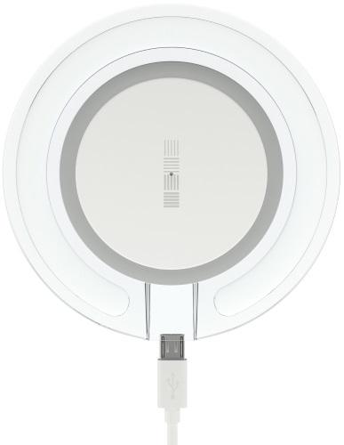 Беспроводное зарядное устройство InterStep QI 1,5А White (IS-TC-QICHRGLWB-000B201)