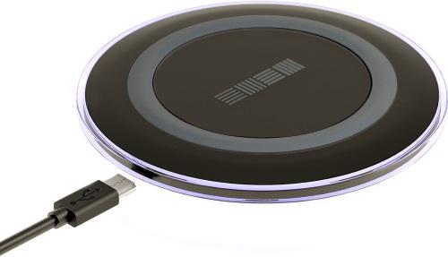Беспроводное зарядное устройство InterStep QI 1,5А Black (IS-TC-QICHRNDBK-000B201)