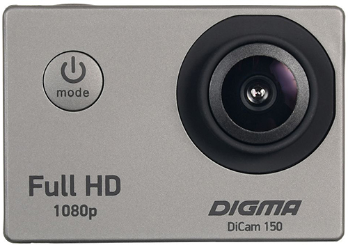 Купить Экшн-камера Digma, DiCam 150 Grey