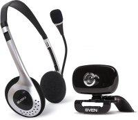 Веб-камера+наушники с микрофоном Sven IC-H3300