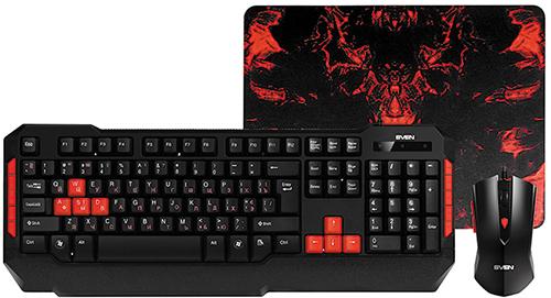 Купить Игровой набор Sven, клавиатура + мышь + коврик Challenge 9000 Combo