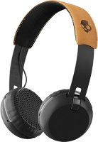 Беспроводные наушники с микрофоном Skullcandy Grind Wireless Black/Tan (S5GBW-J543)