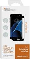 Защитное стекло с рамкой 2.5D InterStep для Samsung Galaxy A6 Plus Black