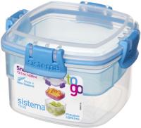 Контейнер двухуровневый Sistema To-Go Snacks, 400 мл Blue (21320) фото