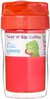 Термокружка для кофе Sistema To-Go Twist 'n' Sip Coffee, 315 мл Orange (21477)